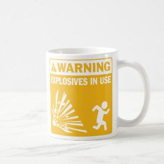 Warning! Explosives in Use Mug