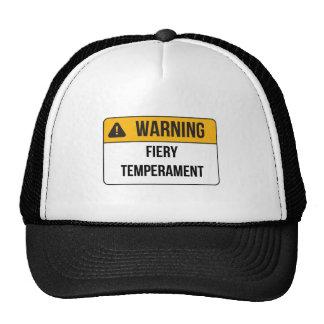 Warning - Fiery Temperament Hats