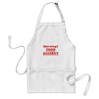 Warning Food Allergy Standard Apron