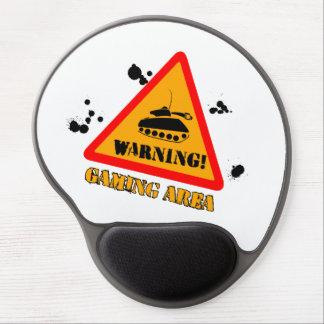Warning Gaming Gel Mousepad