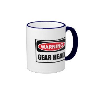 Warning GEAR HEAD Mug