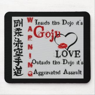 Warning Goju Ryu Karate Do Kanji Mouse Pad