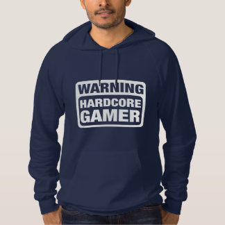 Warning Hardcore Gamer Hoodie