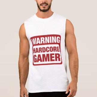 Warning Hardcore Gamer Sleeveless Shirt