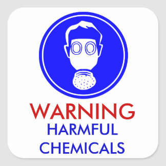 Warning Harmful Chemicals sticker