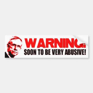 WARNING: HARRY REID BUMPER STICKER