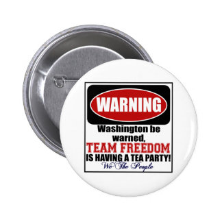 Warning Having a Tea Party Pin