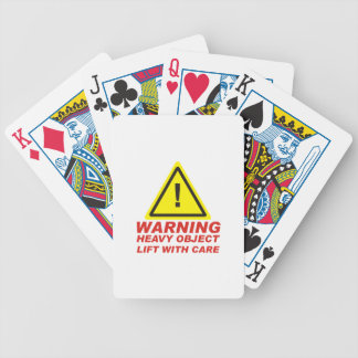 Warning Heavy Oject Bicycle Playing Cards