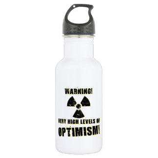 Warning! High Levels of Optimism! 532 Ml Water Bottle