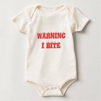 WARNING I BITE BABY BODYSUIT