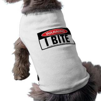 Warning,I bite Shirt