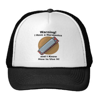 Warning! I Have A Harmonica ... Mesh Hat