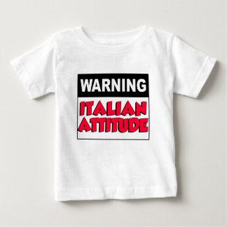 Warning Italian Attitude Baby T-Shirt