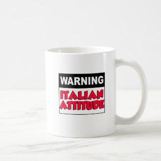 Warning Italian Attitude Mug