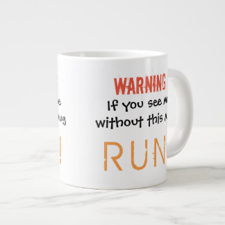 Warning Large Coffee Mug