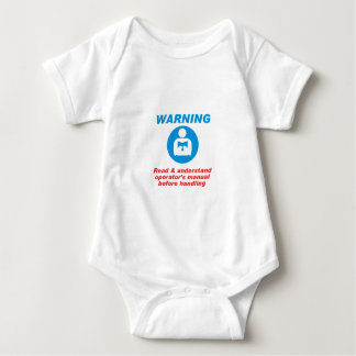 Warning Manual Baby Bodysuit