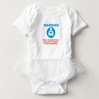 Warning Manual Baby Bodysuit