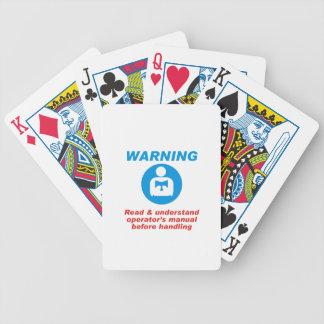 Warning Manual Bicycle Playing Cards