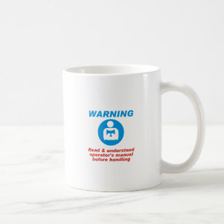 Warning Manual Coffee Mug