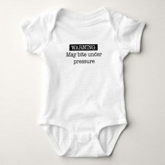 warning- may bite under pressure baby bodysuit