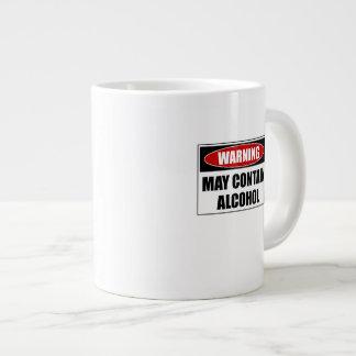 Warning May Contain Alcohol Large Coffee Mug