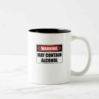 Warning May Contain Alcohol Two-Tone Coffee Mug