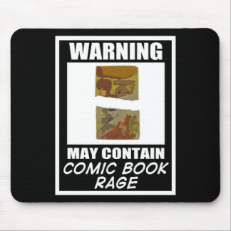 Warning May Contain Comic Book Rage Mouse Pad