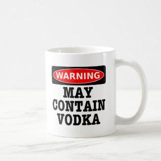 Warning May Contain Vodka Basic White Mug