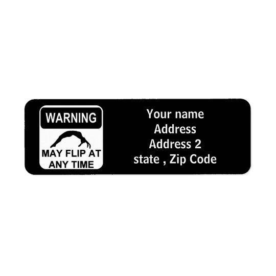 Warning may flip return address label