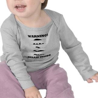 Warning! Nellie Inside (Loch Ness Creature) Tshirt