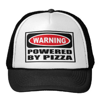 Warning POWERED BY PIZZA Hat