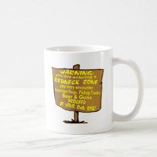 Warning Redneck Zone Proceed At Your Own Risk Coffee Mug