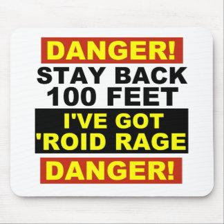 Warning Roid Range Mouse Pad