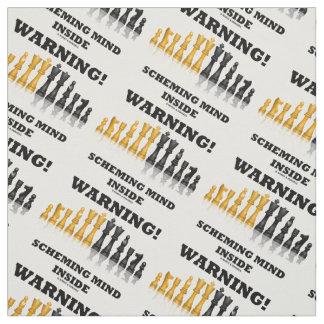 Warning! Scheming Mind Inside Chess Humor Fabric