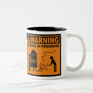 Warning! Science In Progress© Coffee Mug (Rocket)