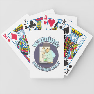 Warning: Serial Midnight Snacker Bicycle Playing Cards