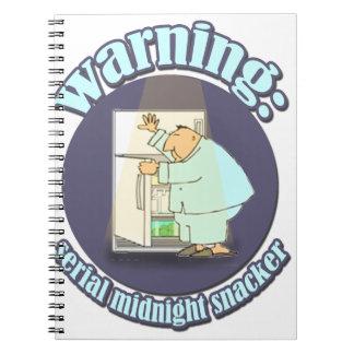Warning: Serial Midnight Snacker Notebook