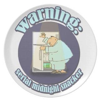 Warning: Serial Midnight Snacker Plate