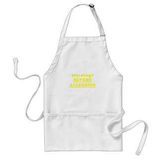 Warning Severe Allergies Standard Apron
