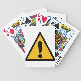 Warning Sign Bicycle Playing Cards