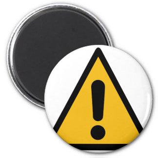 Warning Sign Magnet