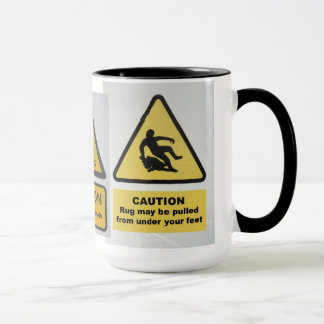 Warning signs mug