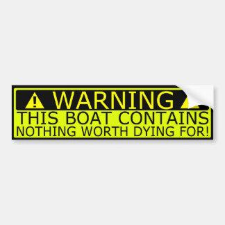 Warning sticker boat security