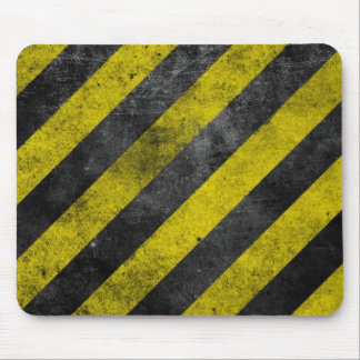 Warning Stripes Mouse Pad