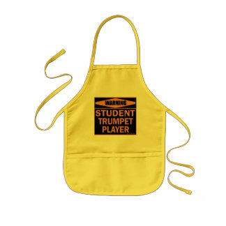 Warning! Student Trumpet Player! Kids Apron