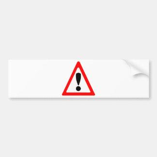 Warning Symbol Bumper Sticker