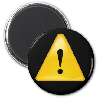 Warning symbol exclamation point triangle magnet
