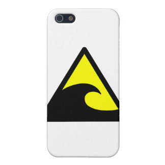 Warning Tsunami Wave Sign iPhone 5 Cases