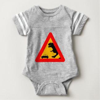 Warning Tyrannosaurus Rex Baby Bodysuit