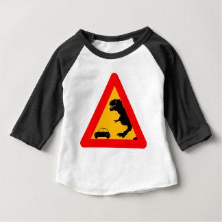 Warning Tyrannosaurus Rex Baby T-Shirt